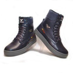 Стильные зимние  кожаные ботинки Armani для мальчиков  32 размер 33 размер 34 размер 35 размер 36 размер 37 размер 38 размер 39 размер. Полностью натуральная кожа, утеплитель нат. мех, толстая подошва, супинатор, Турция!