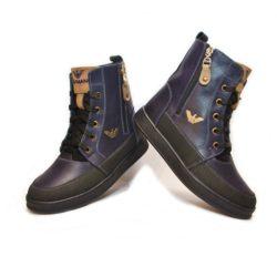 Зимние  кожаные ботинки Armani для мальчиков  31 размер 32 размер 33 размер 34 размер 35 размер 36 размер 37 размер 38 размер 39 размер 40 размер. Полностью натуральная кожа, утеплитель нат.мех, толстая подошва, супинатор, Турция!