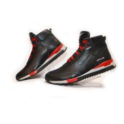 Зимние кожаные мужские подростковые спортивные ботинки кроссовки Nike 40 размер 41 размер 42 размер 43 размер 44 размер 45 размер. Верх-натуральная кожа, утеплитель-нат.шерсть, мягкие, тёплые. Подошва толстая, супинатор