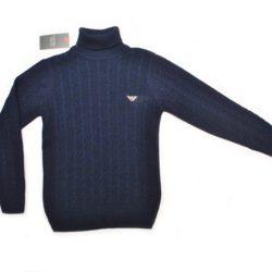 Брендовый синий свитер-гольф Armani для мальчика 9 лет 10 лет 11 лет 12 лет 13 лет 14 лет. Турция, смешанный состав, не колючий, отличное качество!