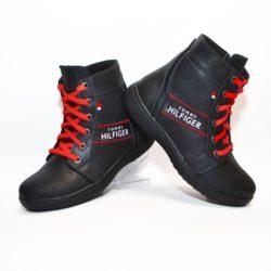 Кожаные демисезонные ботинки Tommy Hilfiger  для мальчиков  32 размер 33 размер 34 размер 35 размер 36 размер 37 размер 38 размер 39 размер. Полностью натуральная кожа, утеплитель шерсть, толстая подошва, супинатор, Турция!