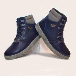 Модные зимние  кожаные ботинки Armani для мальчиков  32 размер 33 размер 34 размер 35 размер 36 размер 37 размер 38 размер 39 размер. Полностью натуральная кожа, утеплитель шерсть, толстая подошва, супинатор, Турция!
