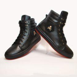 Модные зимние подростковые  мужские кожаные ботинки Philipp Plein 40 размер 41 размер 42 размер 43 размер 44 размер 45 размер. Верх-натуральная кожа, утеплитель-нат.шерсть, мягкие, тёплые. Подошва толстая, супинатор