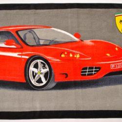 Брендовое махровое полотенце Ferrari  140*70см . Турция , хлопок
