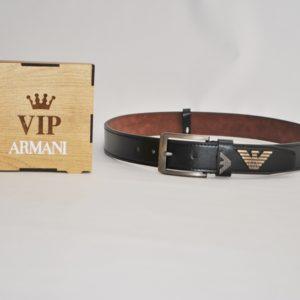 Кожаный ремень Armani в подарочной коробке для мальчиков 8-16 лет. Турция, экокожа