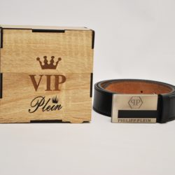 Кожаный ремень Philipp Plein в подарочной коробке для мальчиков 8-16 лет. Турция, экокожа