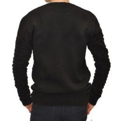 Стильный чёрный свитер Armani на мальчиков 9-13 лет. Турция, смешанный состав