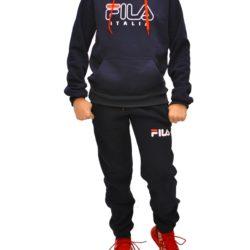 Трендовый утеплённый спортивный костюм FILA на флисе для мальчиков 12 лет 13 лет 14 лет 15 лет. Турция