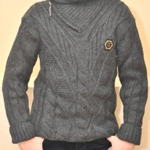 Стильный брендовый свитер Philipp Plein на мальчика 11-14 лет. Смешанный состав, не колючий
