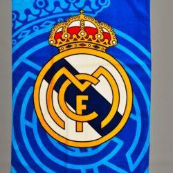 Модное махровое полотенце FC Real Madrid ФК Реал. Турция, хлопок. 140*70 см