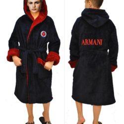Стильный брендовый махровый халат Armani для мальчиков 8 лет 9 лет 10 лет 11 лет 12 лет 13 лет 14 лет 15 лет 16 лет . Турция, хлопок