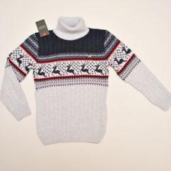 Стильный брендовый свитер-гольф   Armani с оленями на мальчика 10-14 лет. Шерсть+акрил, тёплый ,мягкий, не колючий. Турция, отличное качество!