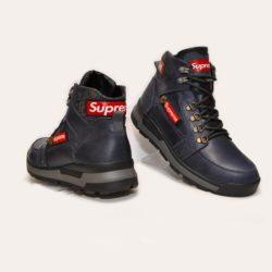 Трендовые зимние подростковые  мужские кожаные ботинки Supreme 40 размер 41 размер 42 размер 43 размер 44 размер 45 размер. Верх-натуральная кожа, утеплитель-нат.шерсть , мягкие, тёплые. Подошва толстая, супинатор
