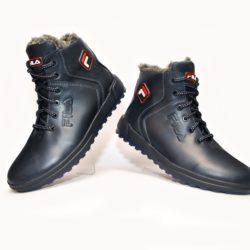 Трендовые зимние подростковые  мужские кожаные ботинки FILA  40 размер 41 размер 42 размер 43 размер 44 размер 45 размер. Верх-натуральная кожа, утеплитель-нат.шерсть , мягкие, тёплые. Подошва толстая, супинатор