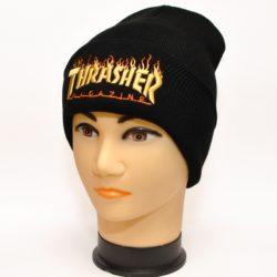 Модная трендовая шапка Thrasher для мальчиков Модная трендовая шапка Stone Island для мальчиков 8 лет 9 лет 10 лет 11 лет 12 лет 13 лет 14 лет 15 лет. Турция, шерсть+акрил. Турция, шерсть+акрил
