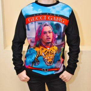 Трендовый свитшот Gucci Gang с Lil Pump для мальчиков 10 лет 11 лет 12 лет 13 лет 14 лет 15 лет 16 лет, Турция
