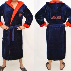 Стильный мужской махровый халат Armani M, L, XXL  . Турция