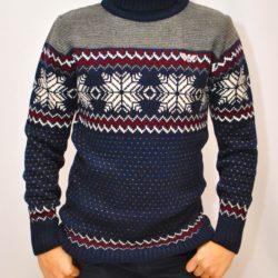 Стильный брендовый свитер-гольф   Armani со снежинками  на мальчиков 10-14 лет. Шерсть+акрил, тёплый ,мягкий, не колючий. Турция, отличное качество!