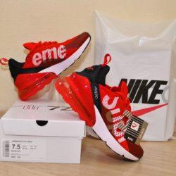 Трендовые  кроссовки Nike Supreme Airmax 270 Flyknit  для мальчиков  36 размер 37 размер 38 размер 39 размер 40 размер, Вьетнам