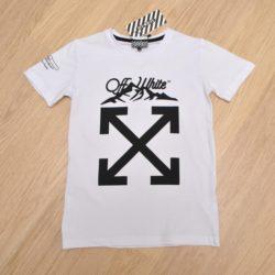 Трендовая футболка Offwhite для мальчиков  10 лет 11 лет 12 лет 13 лет 14 лет