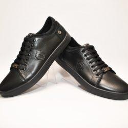 Стильные мужские чёрные спортивные туфли Philipp Plein для мальчиков 40 размер 41 размер 42 размер 43 размер 44 размер 45 размер, нат. кожа, Турция