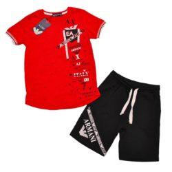 Модный  летний костюм шорты и футболка Armani для мальчиков 9 лет 10 лет 11 лет 12 лет. Турция, хлопок, отличное качество!