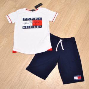 Модный  летний костюм шорты и футболка Tommy Hilfiger для мальчиков 9 лет 10 лет 11. Турция, хлопок, отличное качество