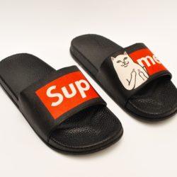 Модные шлёпки сланцы Supreme  для мальчиков 36 размер 37 размер 38 размер 39 размер 40 размер 41 размер