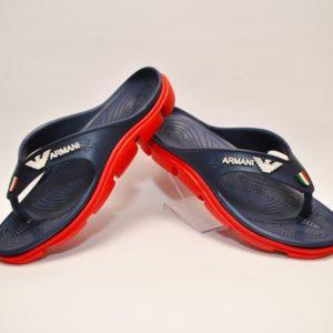 Модные брендовые шлёпки вьетнамки  Armani для мальчиков 36-41 размер