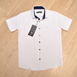 Стильная рубашка  Армани для мальчиков, хлопок, 9-14 лет, Турция