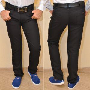 Стильные брендовые чёрные школьные джинсы Armani для мальчика 10 лет 11 лет 12 лет 13 лет 14 лет