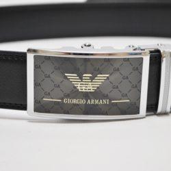 Стильный брендовый кожаный ремень Armani для мальчика
