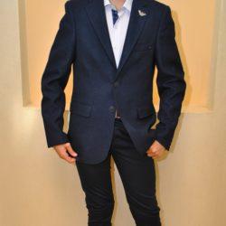 Стильный пиджак Armani, шикарное качество!70% шерсть, 30% вискоза, цвет синий, 13 лет 14  лет