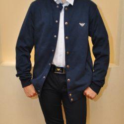 Модный стильный брендовый бомбер Armani  для мальчиков 13 лет 14 лет 15 лет. Турция, хлопок