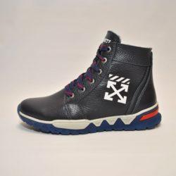 Зимние кожаные ботинки Off-White 35 размер 36 размер 37 размер 38 размер 39 размер 40 размер 41 размер. Верх-натуральная кожа, утеплитель-нат.шерсть, мягкие, тёплые. Подошва толстая, супинатор