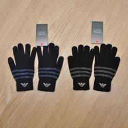 Стильные  детские перчатки Armani для мальчиков  8 лет 9 лет 10 лет 11 лет 12 лет 13 лет. Шерсть+акрил, Турция