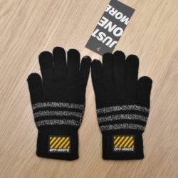 Стильные  детские перчатки Off-White для мальчиков  8 лет 9 лет 10 лет 11 лет 12 лет 13 лет. Шерсть+акрил, Турция