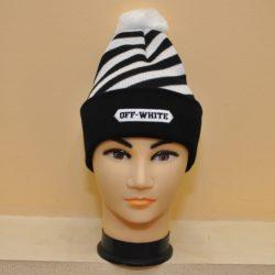 Модная трендовая шапка с бубоном Off white для мальчиков 8 лет 9 лет 10 лет 11 лет 12 лет 13 лет 14 лет 15 лет. Турция, шерсть+акрил.
