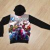 Утеплённое худи Мстители Avengers  на флисе  для мальчиков 6 лет 7 лет 8 лет 9 лет 10 лет 11 лет 12 лет 13 лет 14 лет