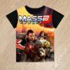 Футболка Mass Effect 2 для мальчиков 6 лет 7 лет 8 лет 9 лет 10 лет 11 лет 12 лет 13 лет 14 лет
