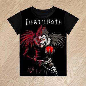 Футболка Ryuk Death Note для мальчиков 6 лет 7 лет 8 лет 9 лет 10 лет 11 лет 12 лет 13 лет 14 лет