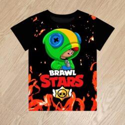 Футболка Леон Leon Brawl Stars для мальчиков 6 лет 7 лет 8 лет 9 лет 10 лет 11 лет 12 лет