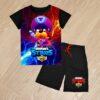 Летний костюм футболка и шорты Brawl Stars генерал Гавс для мальчиков 6 лет 7 лет 8 лет 9 лет 10 лет 11 лет 12 лет 13 лет 14 лет