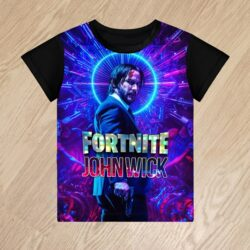 Футболка Джон Уик Душегуб Фортнайт John Wick Fortnite для мальчиков 6 лет 7 лет 8 лет 9 лет 10 лет 11 лет 12 лет 13 лет 14 лет