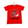 Трендовая футболка TIKTOK 8 лет 9 лет 10 лет 11 лет 12 лет 13 лет 14 лет , хлопок, Турция