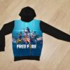 Утеплённое худи Garena Freefire на флисе для мальчиков 6 лет 7 лет 8 лет 9 лет 10 лет 11 лет 12 лет 13 лет 14 лет
