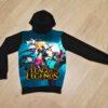 Утеплённое худи League of Legends на флисе для мальчиков 6 лет 7 лет 8 лет 9 лет 10 лет 11 лет 12 лет 13 лет 14 лет