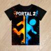 Футболка Portal 2 Портал 2 для мальчиков 6 лет 7 лет 8 лет 9 лет 10 лет 11 лет 12 лет 13 лет 14 лет