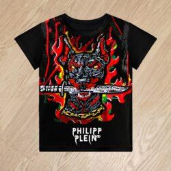 Футболка Philipp Plein Violence для мальчиков 6 лет 7 лет 8 лет 9 лет 10 лет 11 лет 12 лет 13 лет 14 лет