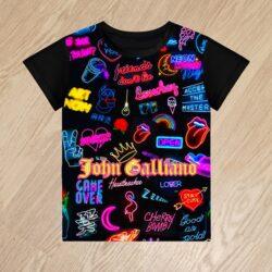 Футболка John Galliano для мальчиков 6 лет 7 лет 8 лет 9 лет 10 лет 11 лет 12 лет 13 лет 14 лет